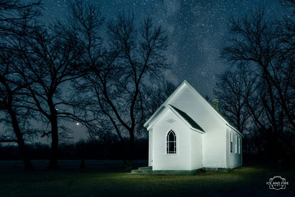 dunston church morden manitoba photograph