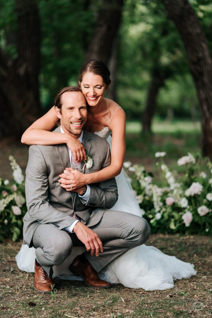 Wedding Couple at Willow Acres