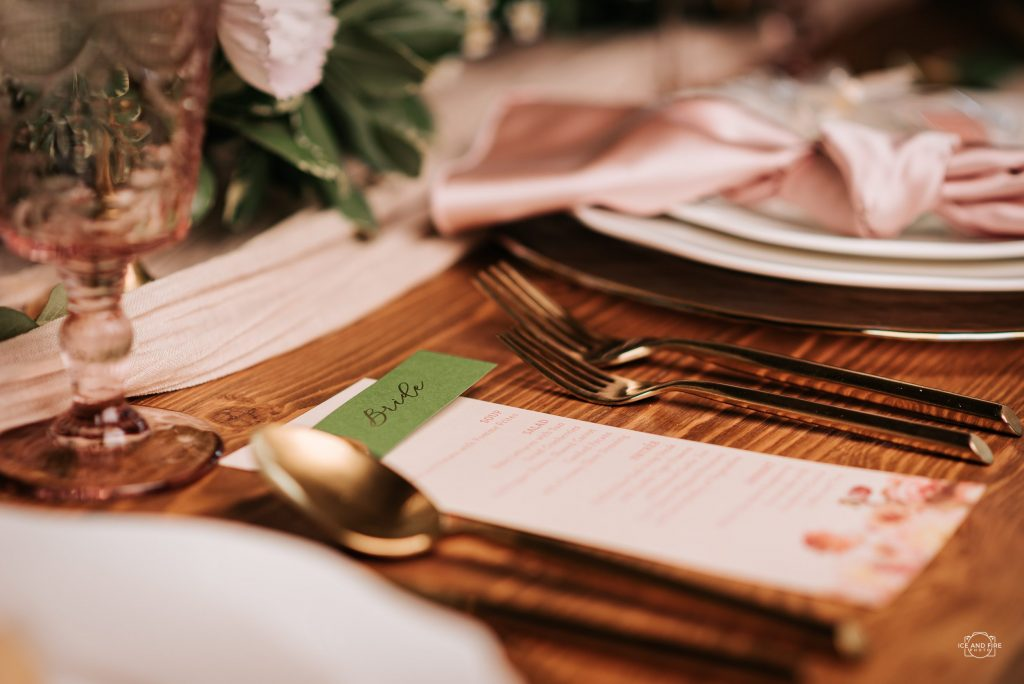 Wedding stationary at Willow Acres